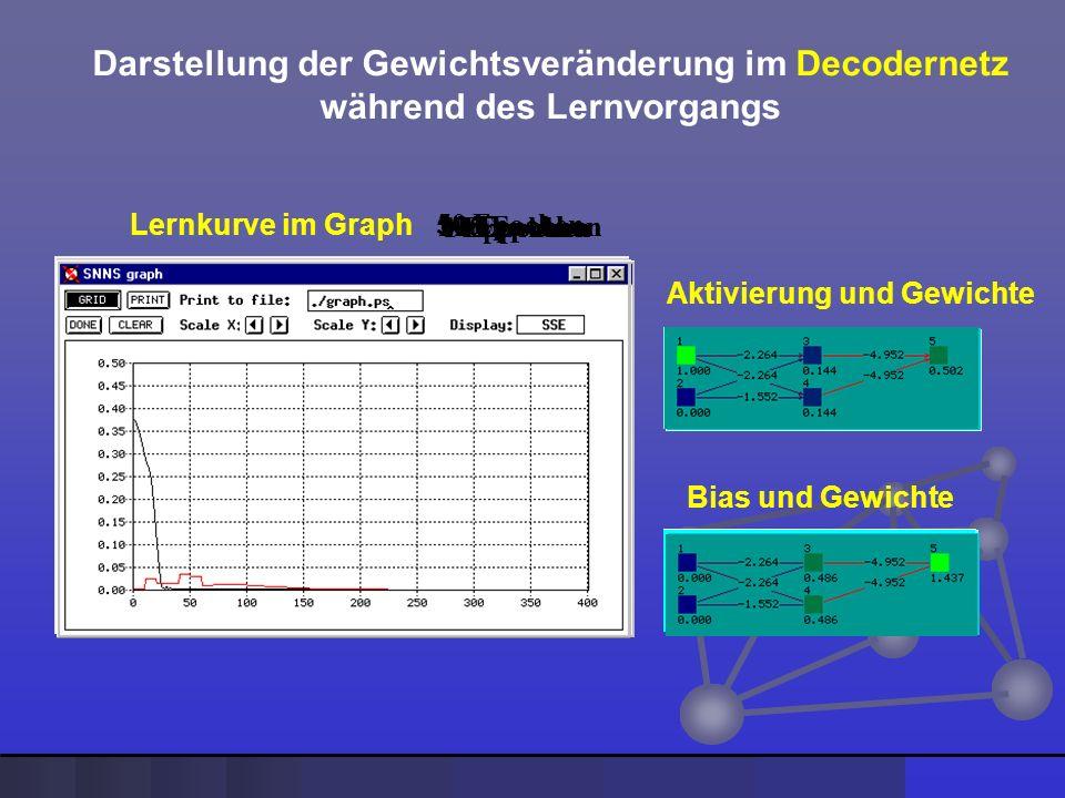 Darstellung der Gewichtsveränderung im Decodernetz
