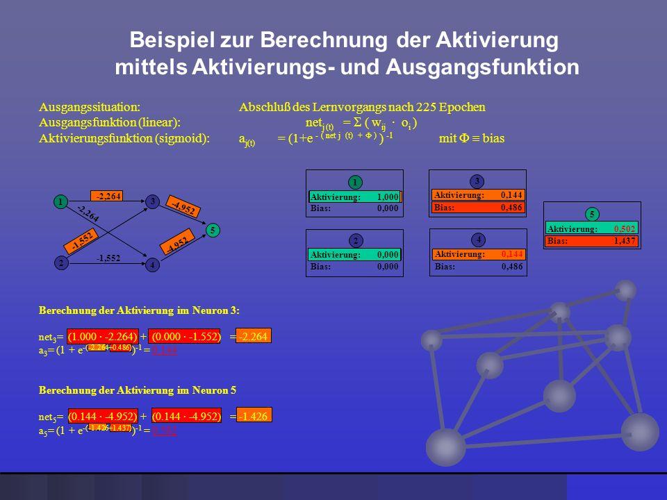 Beispiel zur Berechnung der Aktivierung