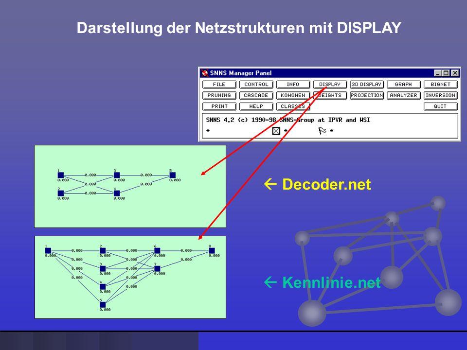 Darstellung der Netzstrukturen mit DISPLAY