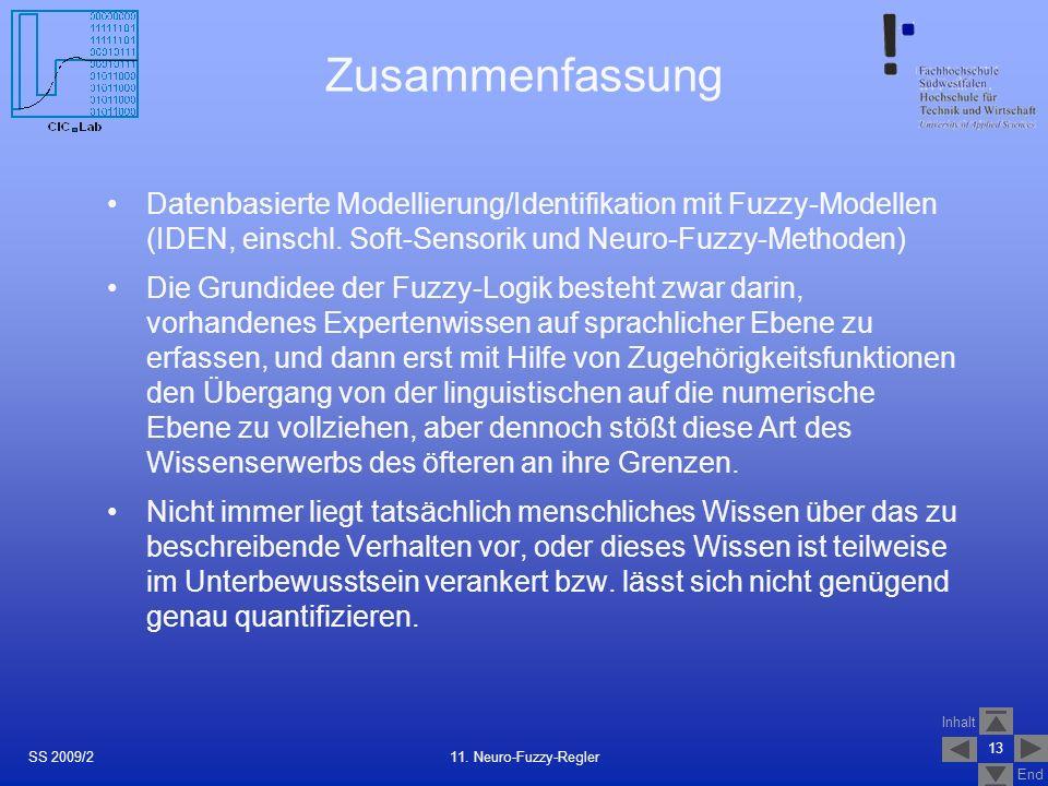 27.03.2017Zusammenfassung. Datenbasierte Modellierung/Identifikation mit Fuzzy-Modellen (IDEN, einschl. Soft-Sensorik und Neuro-Fuzzy-Methoden)
