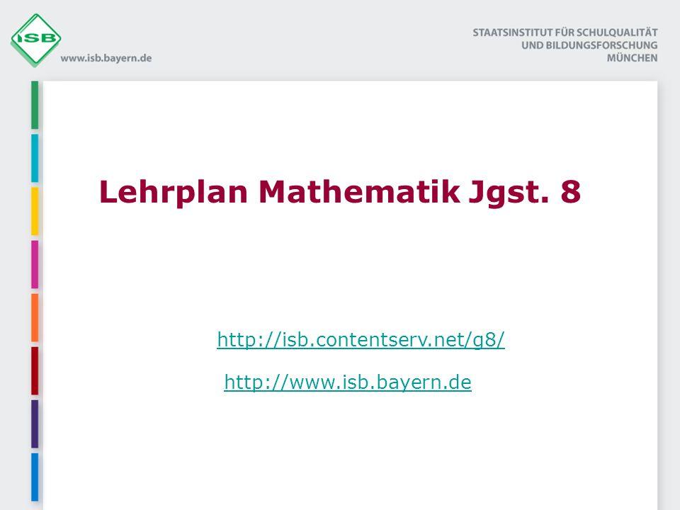 Lehrplan Mathematik Jgst. 8