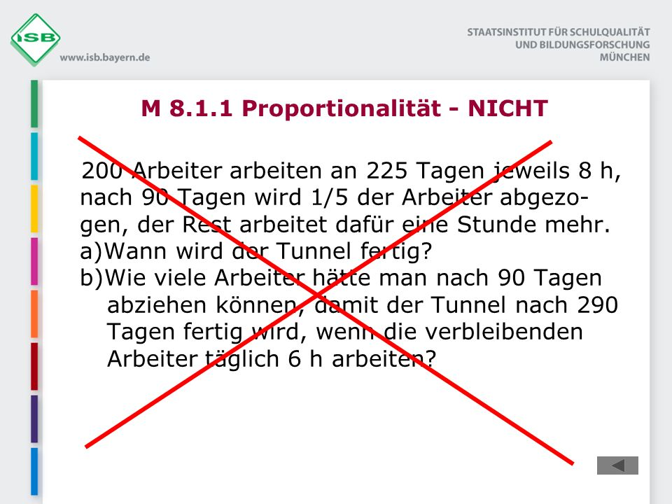 M 8.1.1 Proportionalität - NICHT