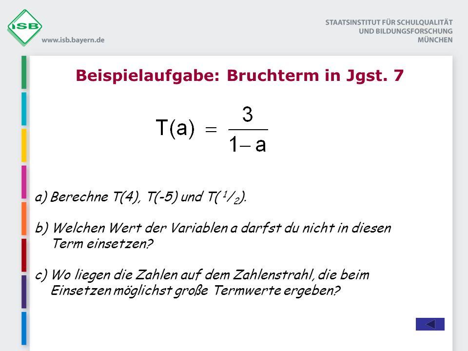 Beispielaufgabe: Bruchterm in Jgst. 7