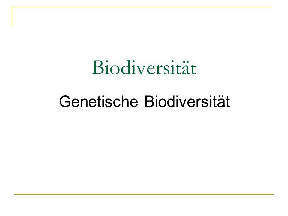 Genetische Biodiversität