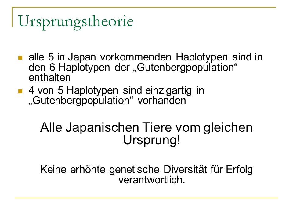 Ursprungstheorie Alle Japanischen Tiere vom gleichen Ursprung!
