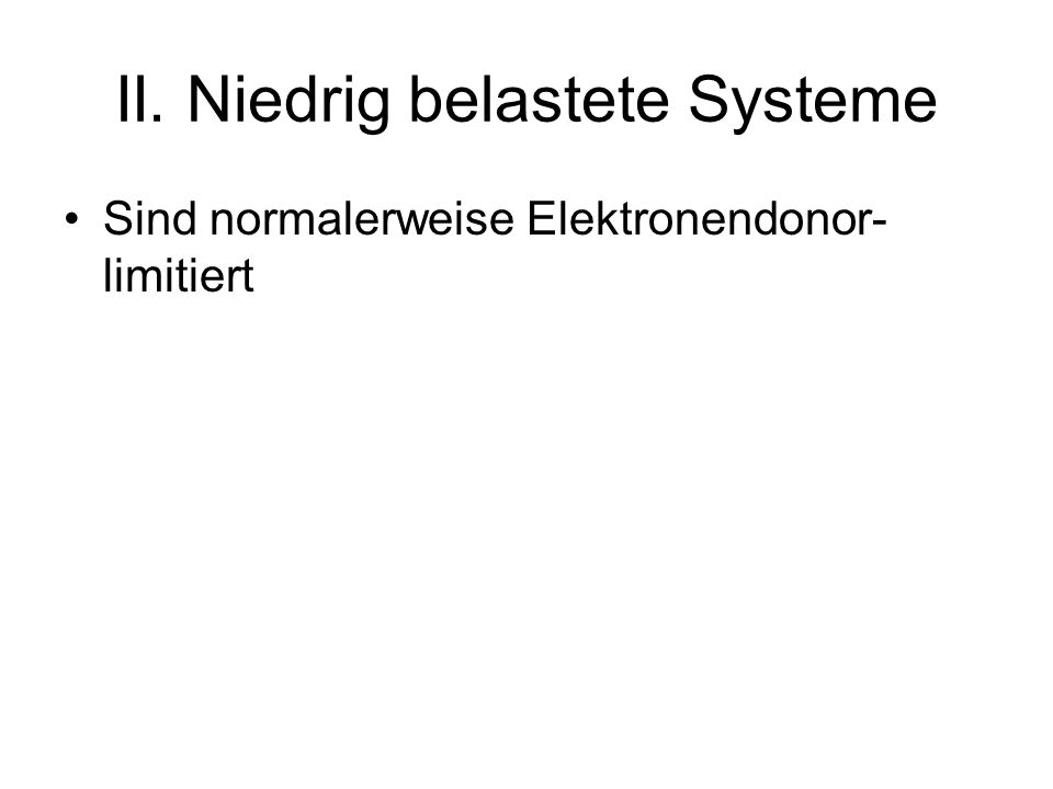 II. Niedrig belastete Systeme