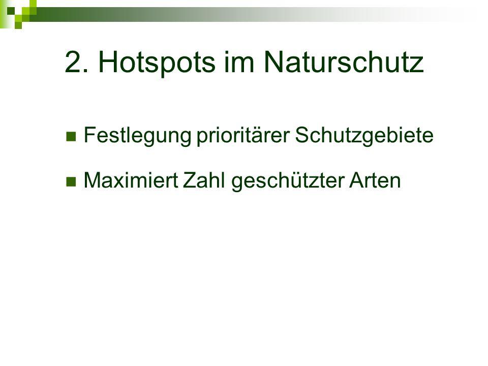 2. Hotspots im Naturschutz