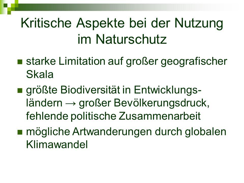 Kritische Aspekte bei der Nutzung im Naturschutz