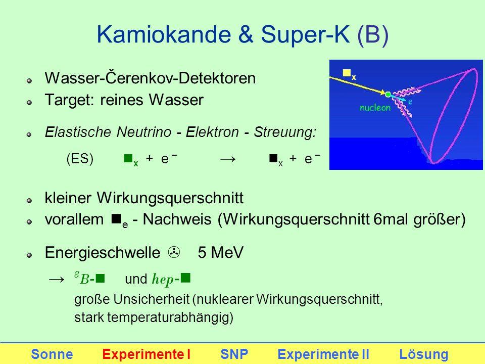 Kamiokande & Super-K (B)