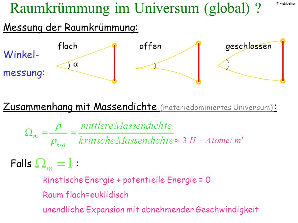 Raumkrümmung im Universum (global)