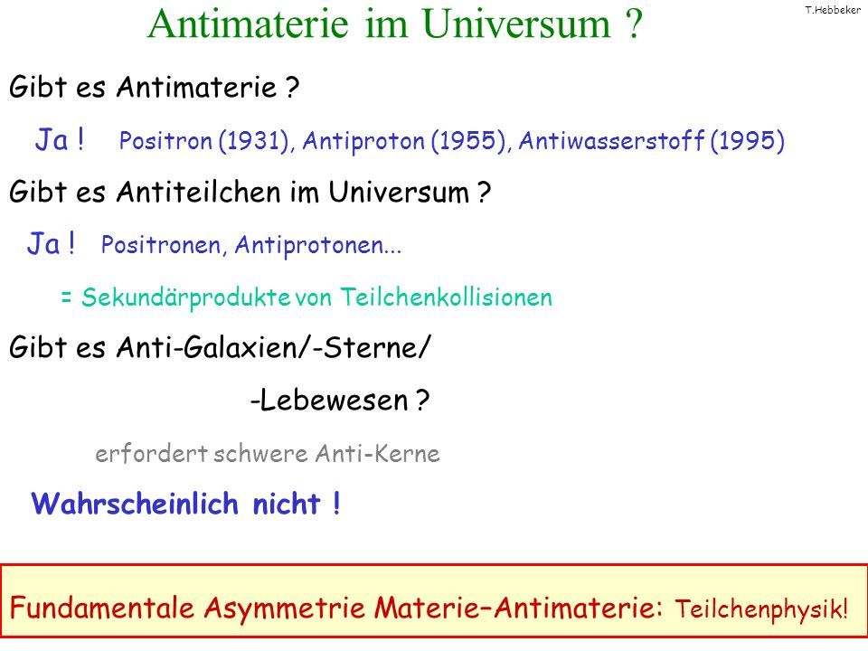 Antimaterie im Universum