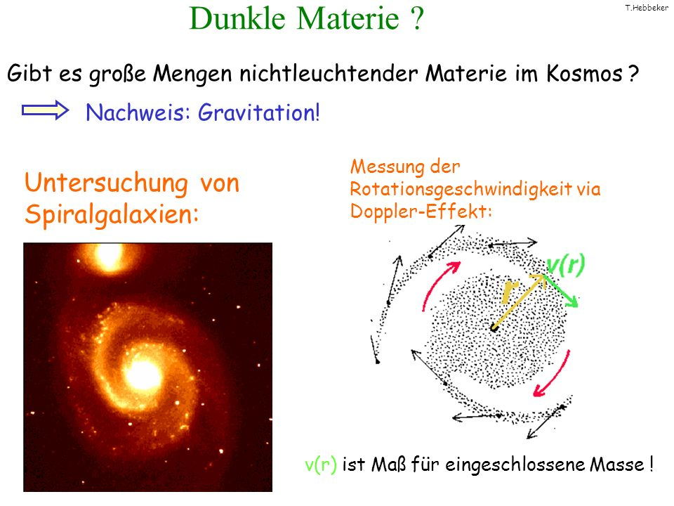 Dunkle Materie Untersuchung von Spiralgalaxien: