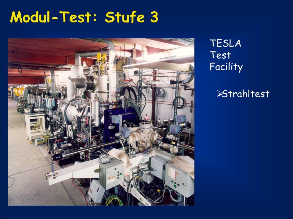 Modul-Test: Stufe 3 TESLA Test Facility Strahltest