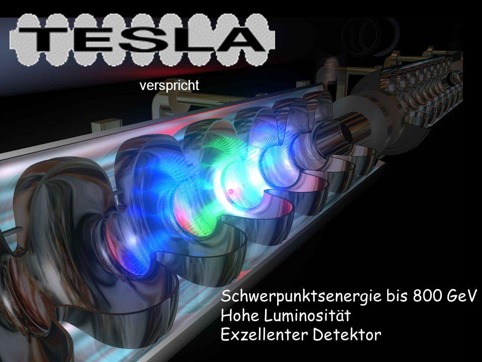 Schwerpunktsenergie bis 800 GeV Hohe Luminosität Exzellenter Detektor