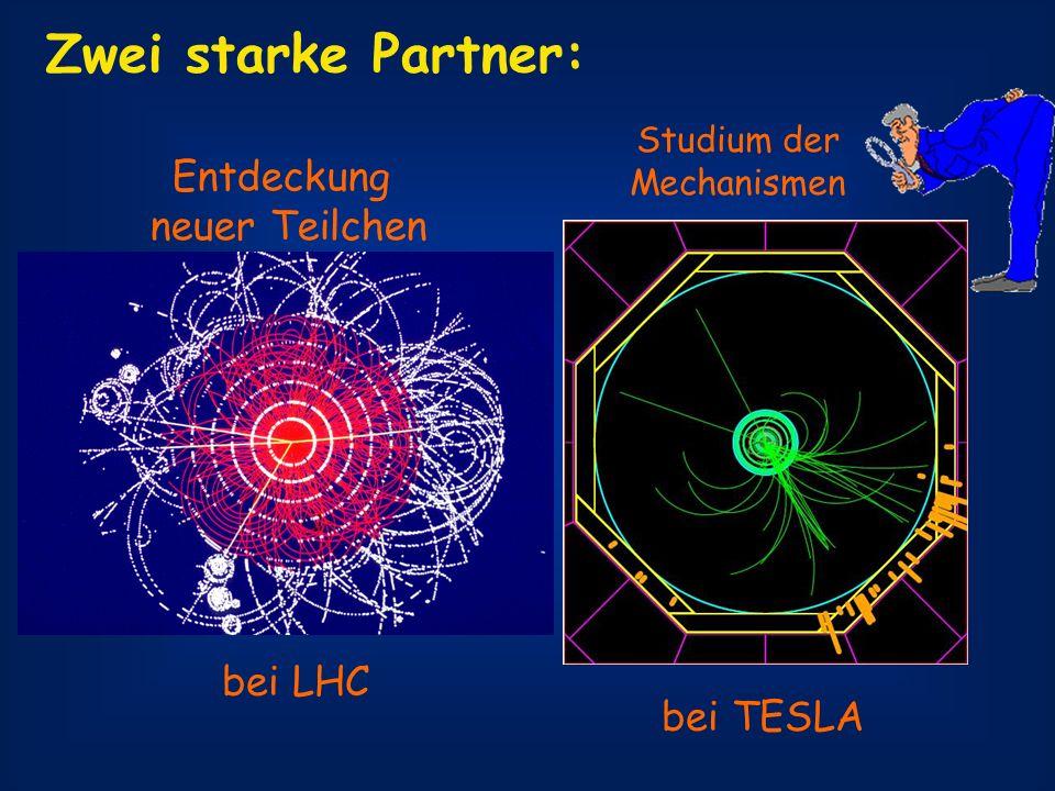 Zwei starke Partner: Entdeckung neuer Teilchen bei LHC bei TESLA