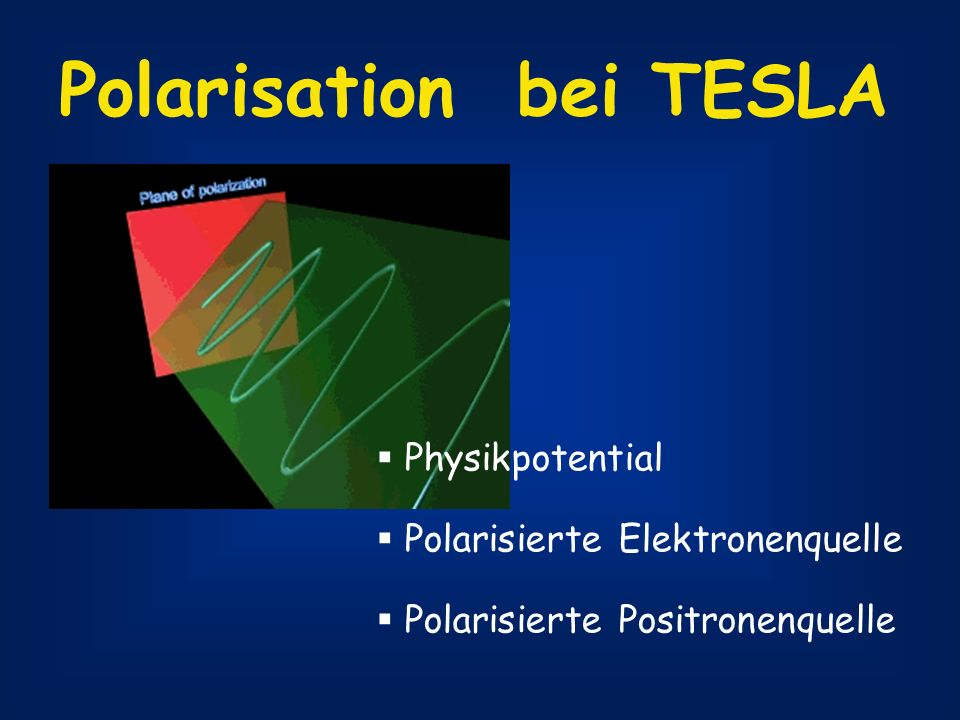 Polarisation bei TESLA