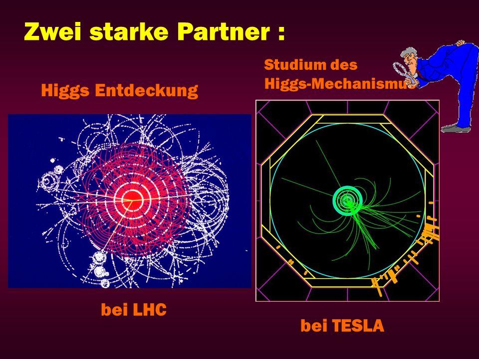 Zwei starke Partner : Higgs Entdeckung bei LHC bei TESLA Studium des
