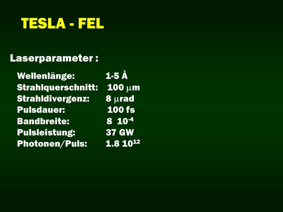 TESLA - FEL Laserparameter : Wellenlänge: 1-5 Å