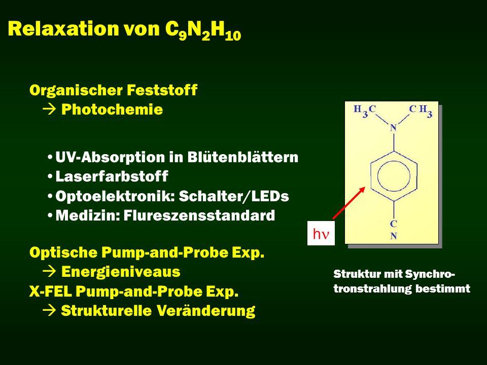 Relaxation von C9N2H10 Organischer Feststoff  Photochemie