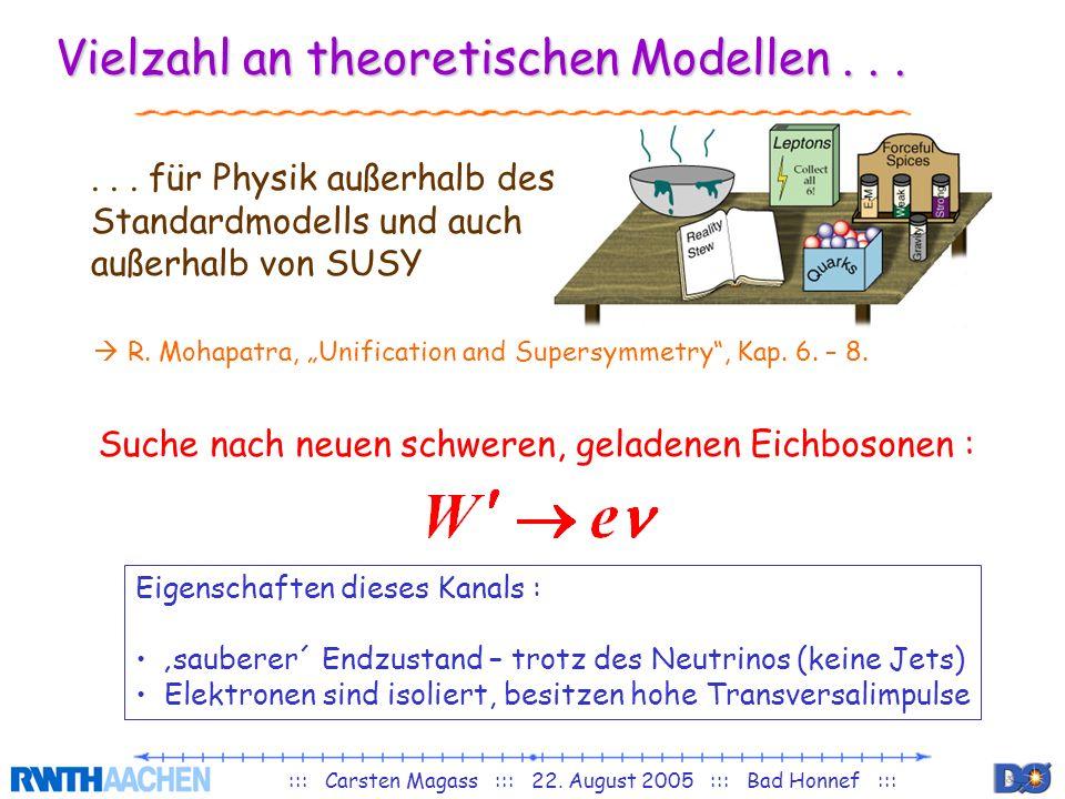 Vielzahl an theoretischen Modellen . . .