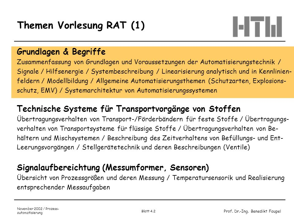 Themen Vorlesung RAT (1)