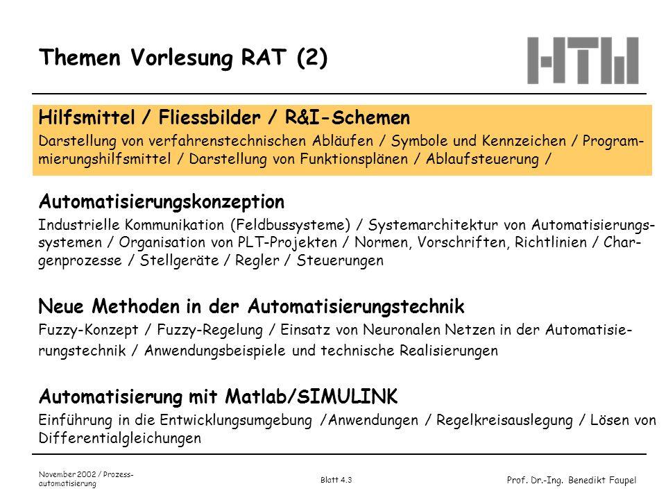 Themen Vorlesung RAT (2)