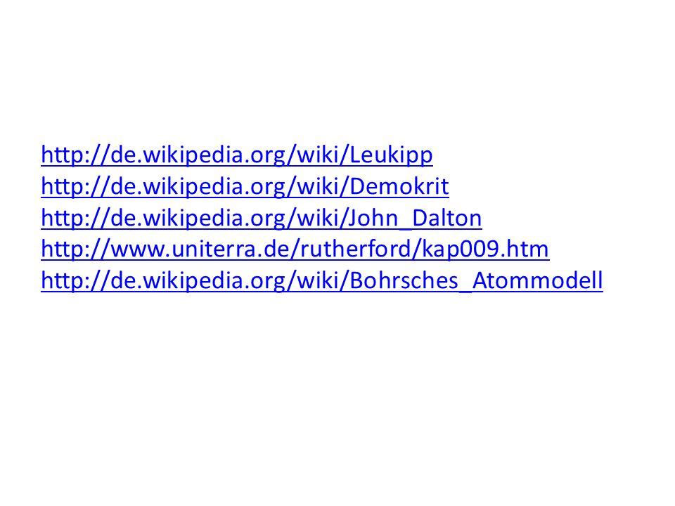 http://de. wikipedia. org/wiki/Leukipp http://de. wikipedia