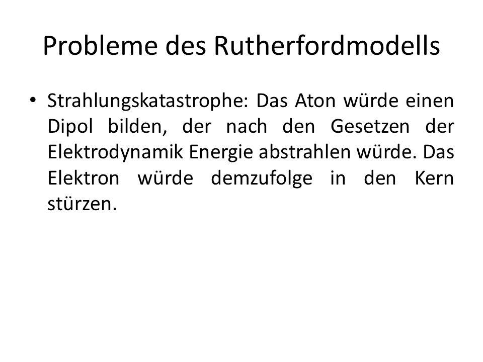 Probleme des Rutherfordmodells