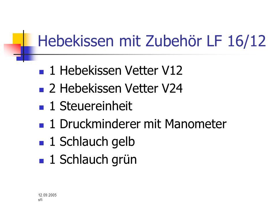 Hebekissen mit Zubehör LF 16/12
