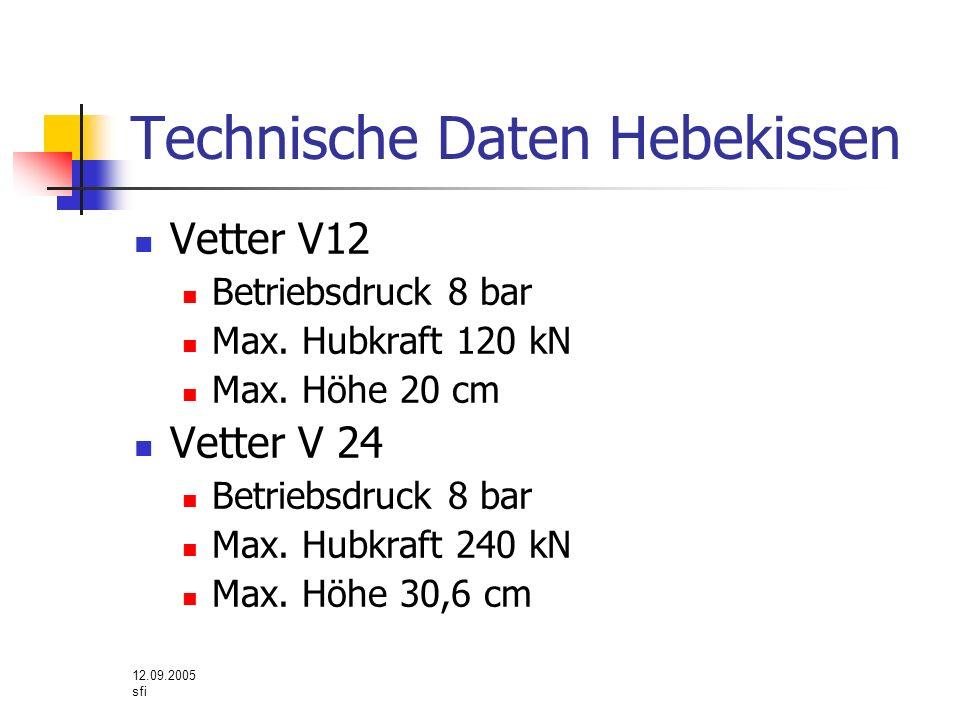 Technische Daten Hebekissen