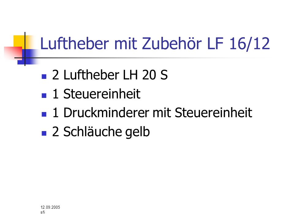 Luftheber mit Zubehör LF 16/12