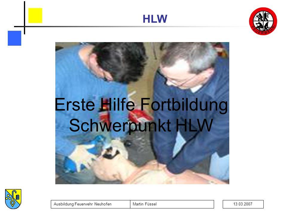 Erste Hilfe Fortbildung Schwerpunkt HLW