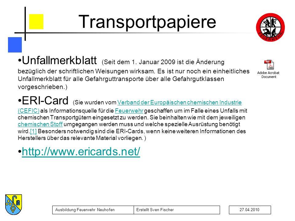 Transportpapiere