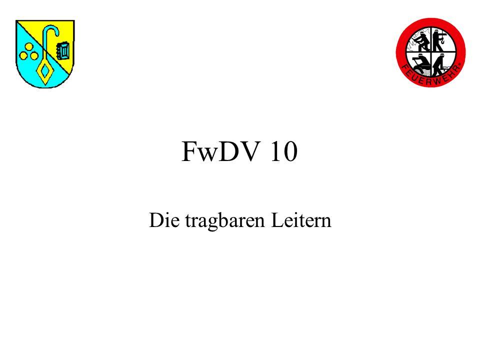 FwDV 10 Die tragbaren Leitern