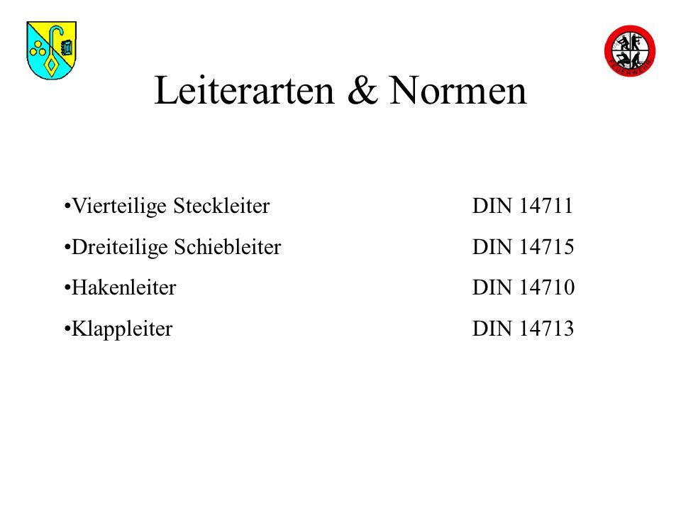 Leiterarten & Normen Vierteilige Steckleiter DIN 14711