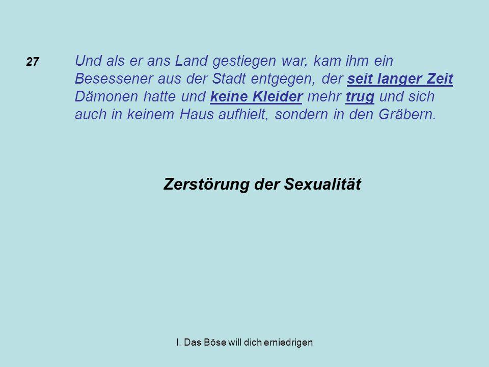 Zerstörung der Sexualität