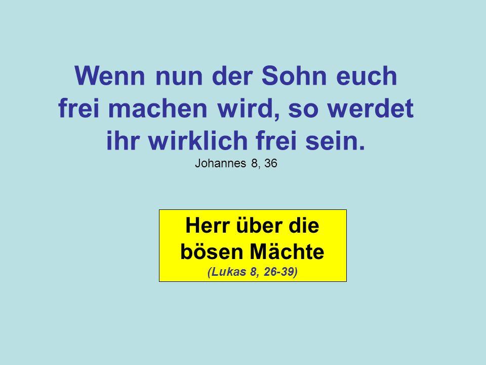 Herr über die bösen Mächte (Lukas 8, 26-39)
