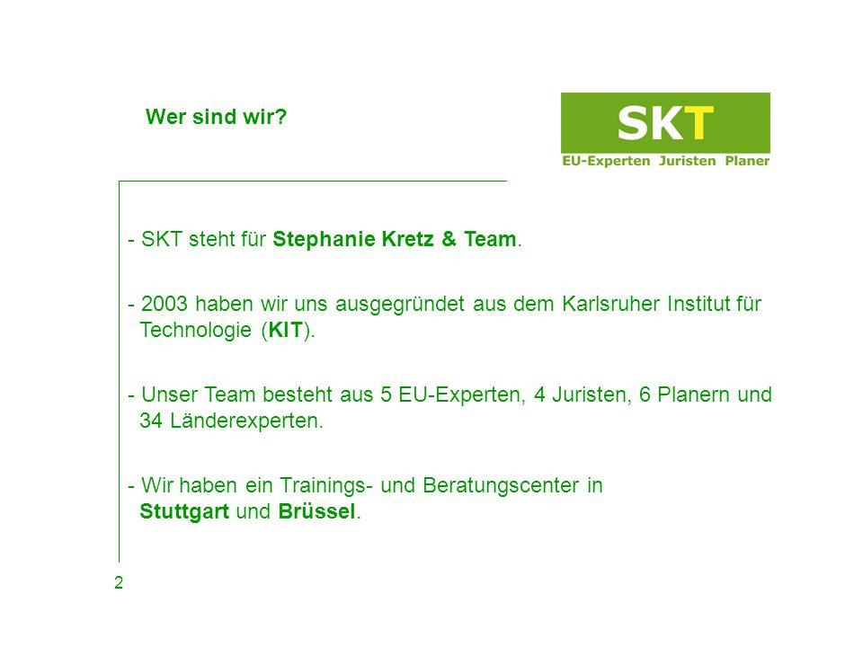 - SKT steht für Stephanie Kretz & Team.