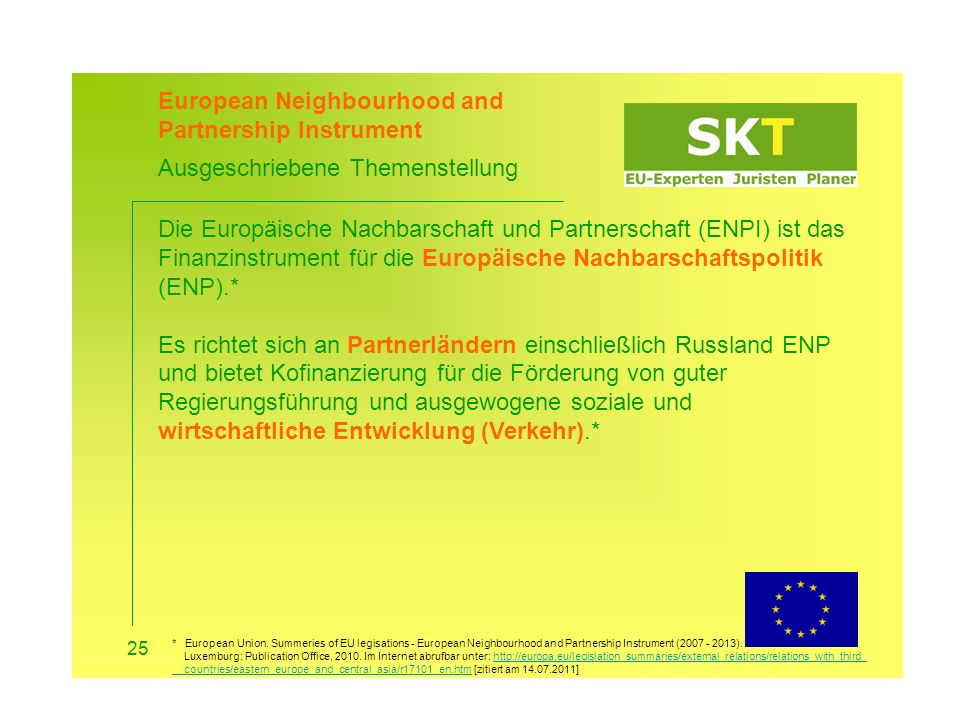 European Neighbourhood and Partnership Instrument