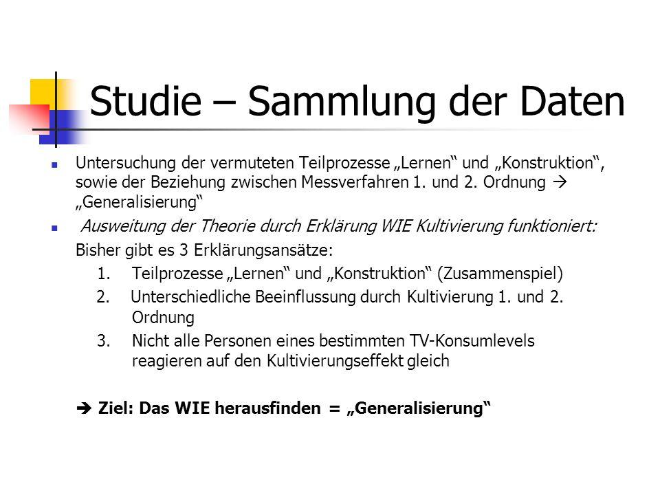 Studie – Sammlung der Daten