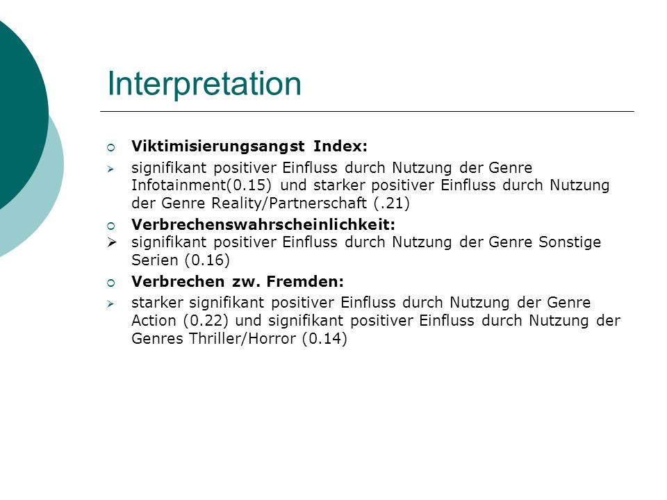 Interpretation Viktimisierungsangst Index: