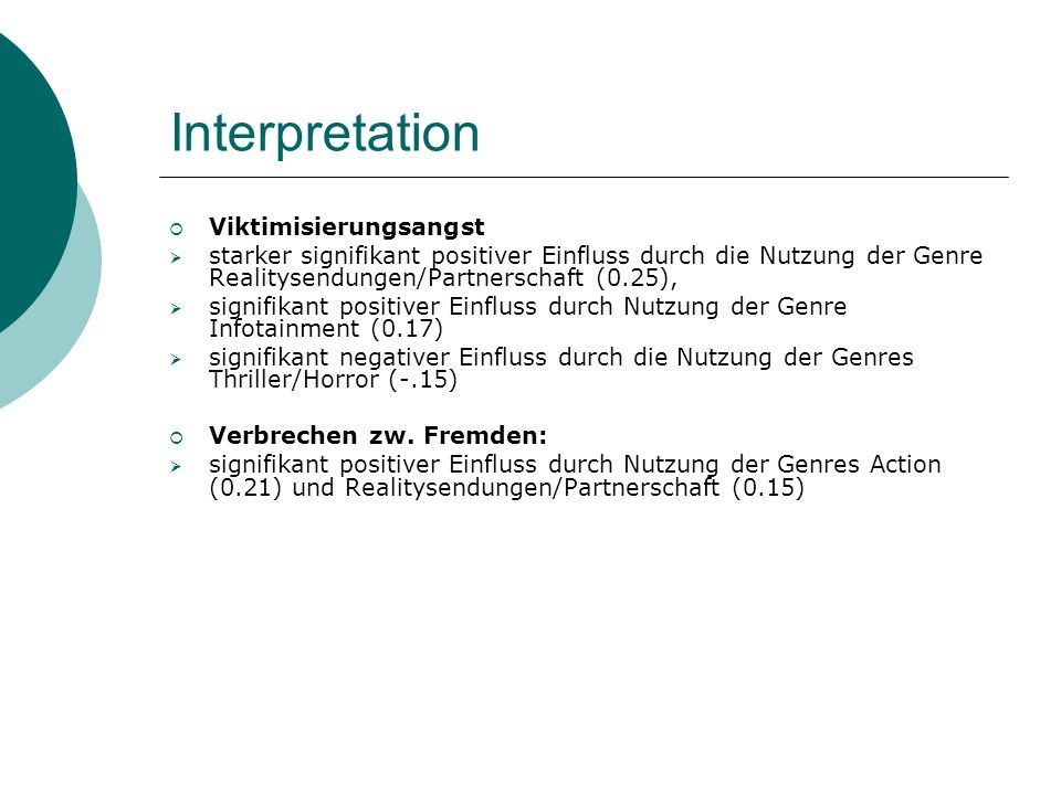 Interpretation Viktimisierungsangst
