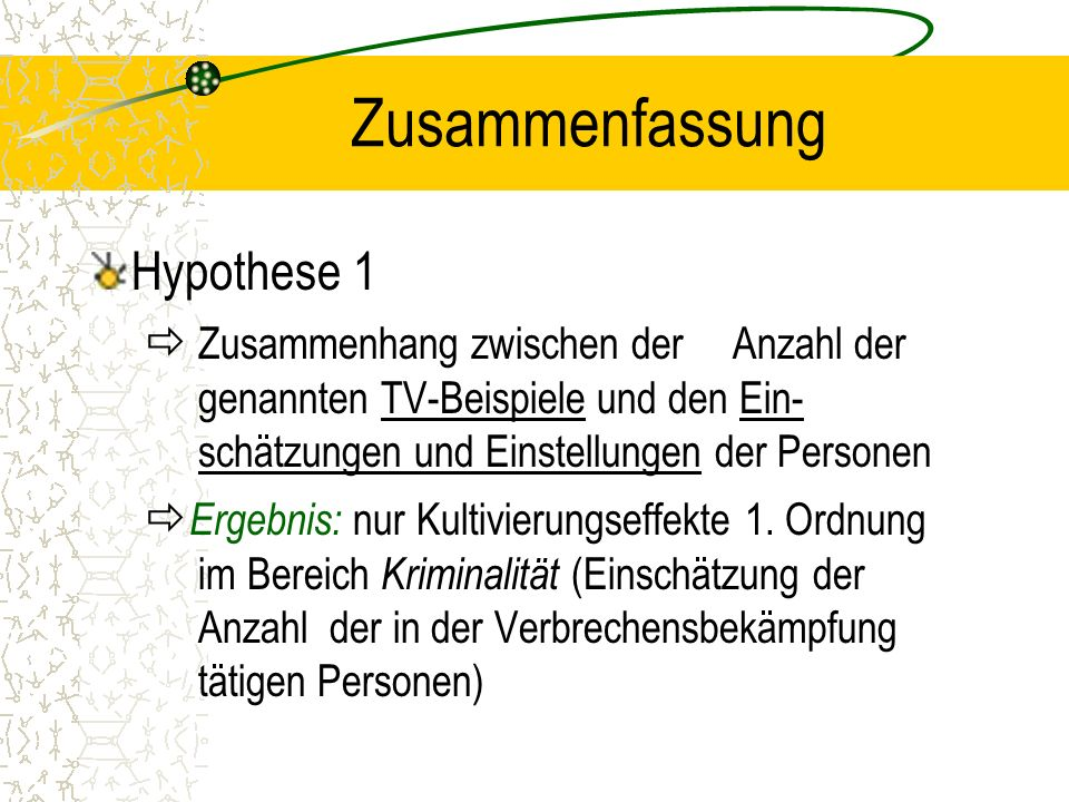 Zusammenfassung Hypothese 1
