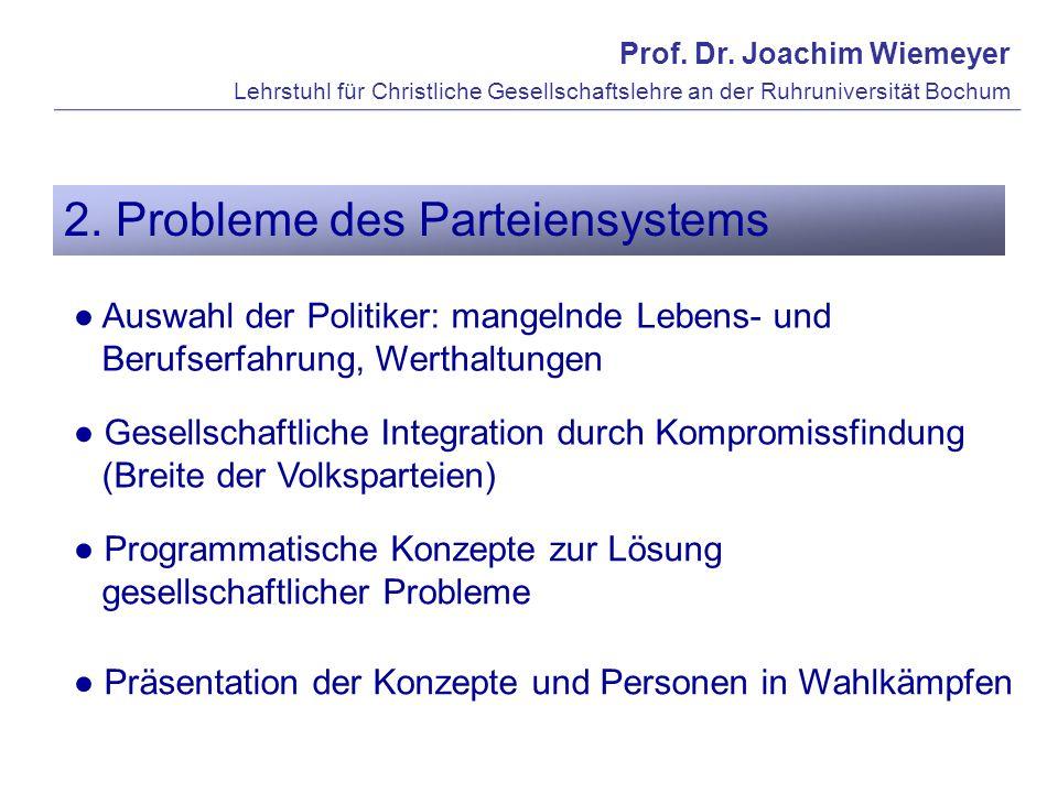 2. Probleme des Parteiensystems