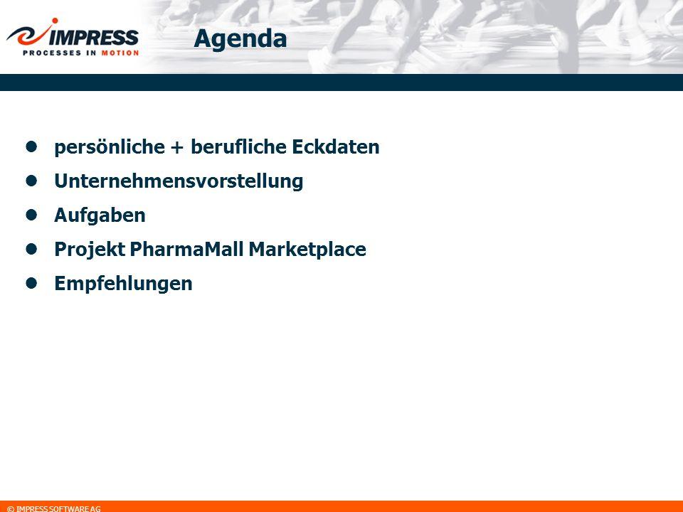 Agenda persönliche + berufliche Eckdaten Unternehmensvorstellung