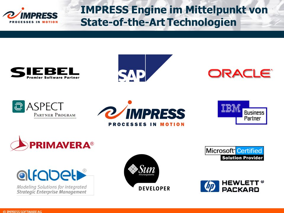IMPRESS Engine im Mittelpunkt von State-of-the-Art Technologien