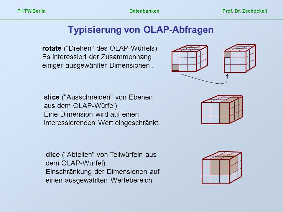 Typisierung von OLAP-Abfragen