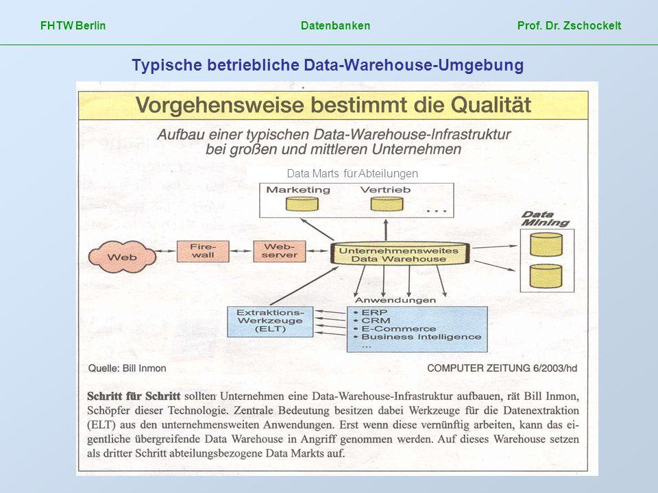 Typische betriebliche Data-Warehouse-Umgebung