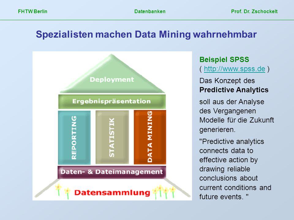 Spezialisten machen Data Mining wahrnehmbar
