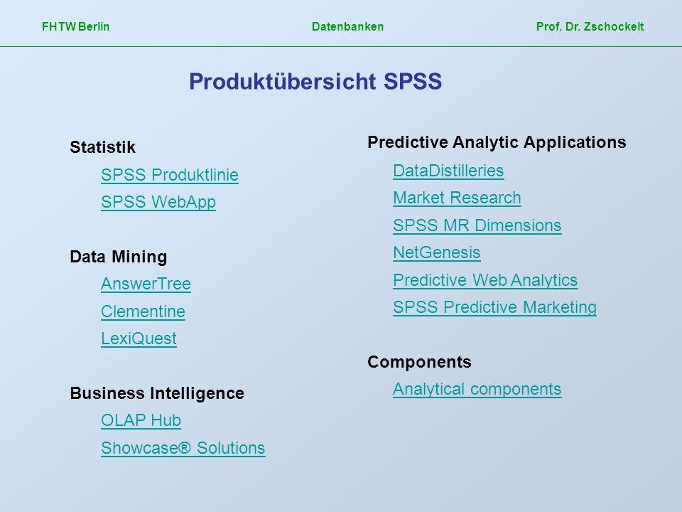 Produktübersicht SPSS